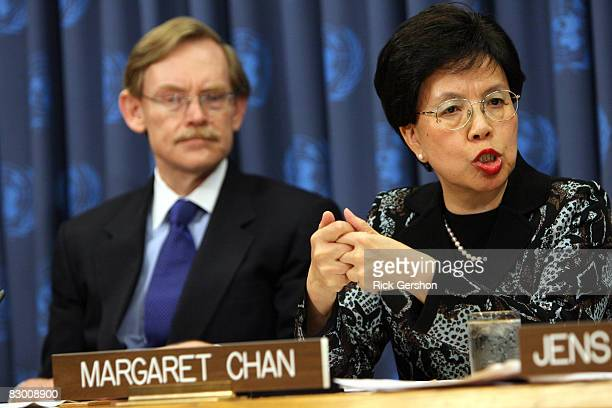 DirectorGeneral of the World Health Organization Margaret Chan speaks during a press conference to launch a plan aimed at saving 10 million mothers...