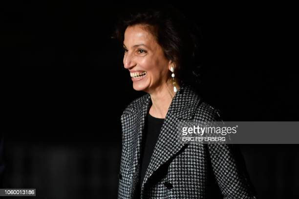 Director-General of United Nations Educational, Scientific, and Cultural Organization Audrey Azoulay arrives at the Musee d'Orsay in Paris on...