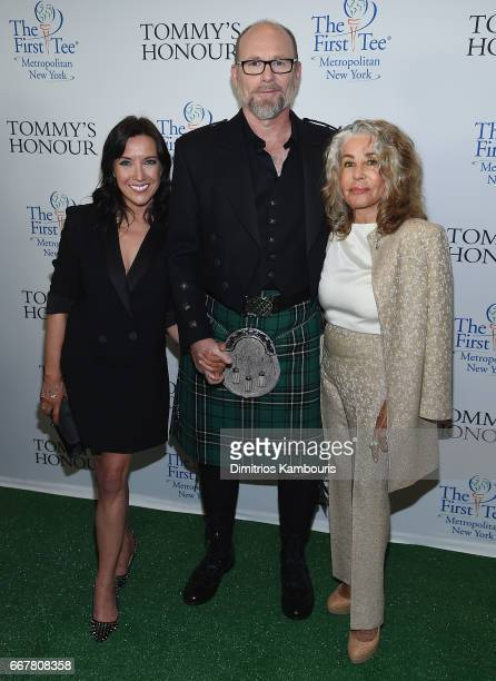 DirectorJason Connery and Lady Michelle Connery attend 'Tommy's Honour' New York Screening at AMC Loews Lincoln Square 13 theater on April 12 2017 in...