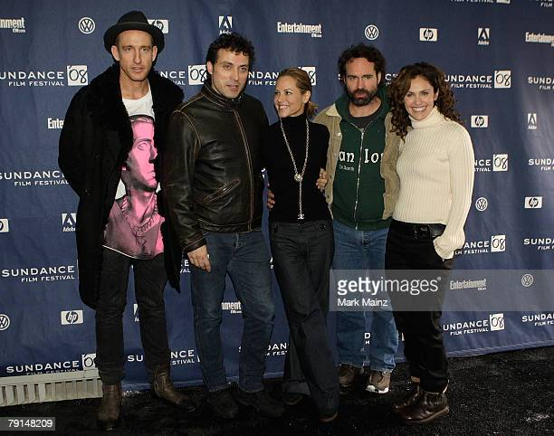 DirectorJohan Renck actors Rufus Sewell Mario BelloJason Patric and Amy Brenneman arrive at the premiere for 'Downloading Nancy' held at the Raquet...