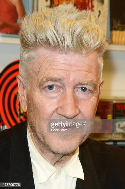 Director/musician David Lynch signs copies of his new album 'The Big Dream' at Amoeba Music on July 16 2013 in Hollywood California