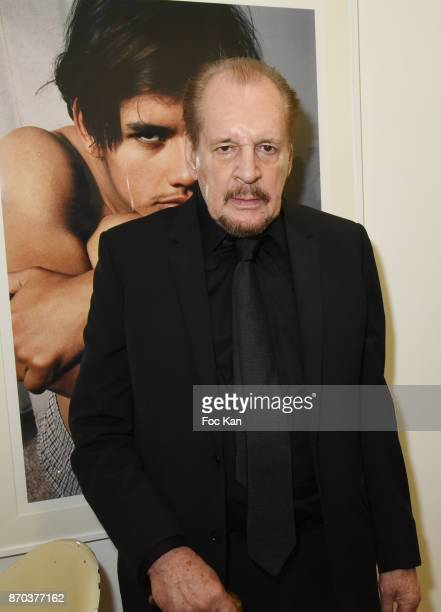 Director/painter Larry Clark attends the Larry Clark and Jonathan Velasquez Photo Exhibition as part of Larry Clark Photos Paintings Exhibition And...