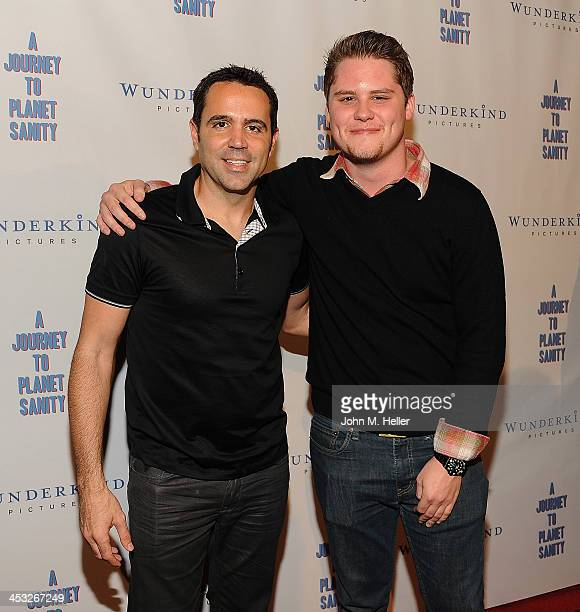 Director/producer Blake Freeman and actor Matt Shively attend the Los Angeles Premiere of A Journey To Planet Sanity at the Laemmle Monica 4Plex on...