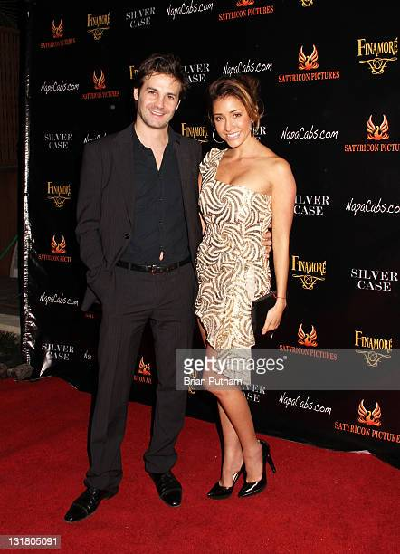 Director/producer Christian Filippella and actress Fernanda Romero attend the Wrap Party for the film 'Silver Case' on January 15 2011 in West...