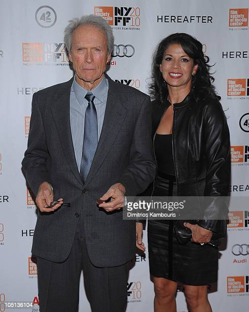 Director/Producer Clint Eastwood and wife Dina Eastwood attend the Hereafter premiere during the 48th New York Film Festival at Alice Tully Hall...