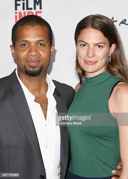 Director/Producer Damani Baker and executive producer/model Cameron Russell attend the premiere of 'The House on Coco Road' during the 2016 Los...