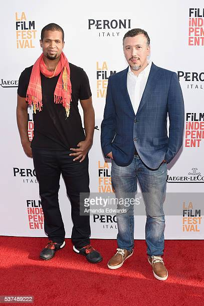 Director/Producer Damani Baker and Jon Fine attend the premiere of 'Lowriders' during opening night of the 2016 Los Angeles Film Festival at ArcLight...