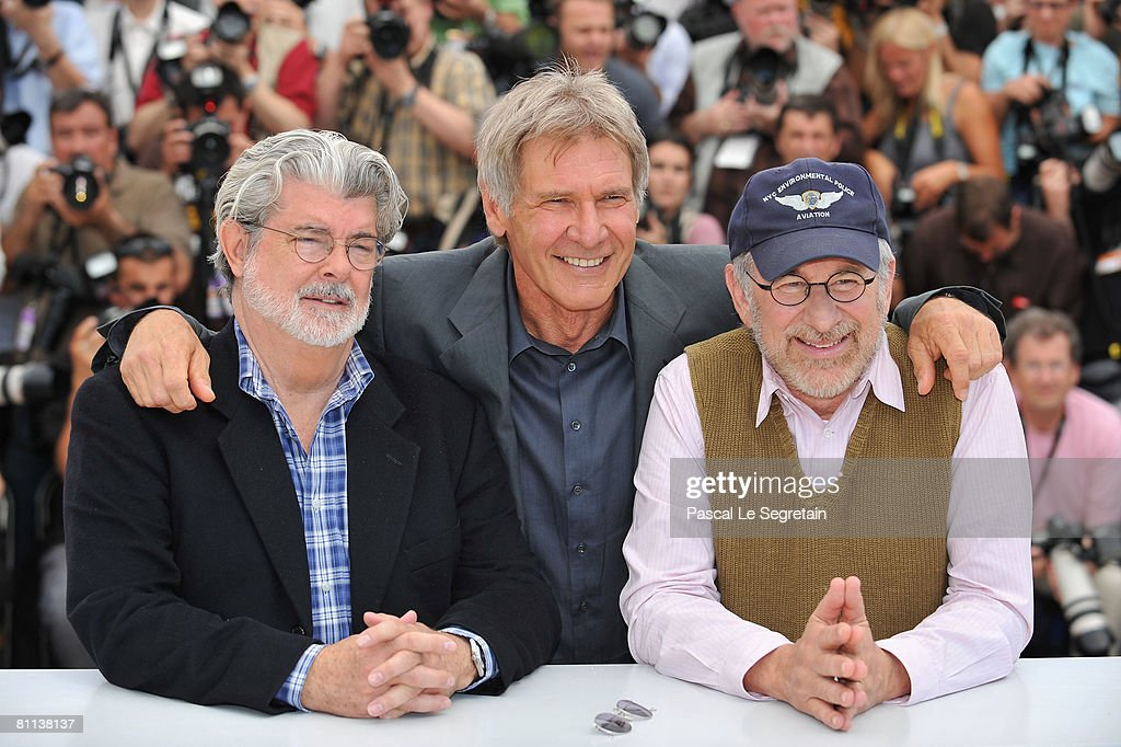 Cannes: Indiana Jones And The Kingdom Of The Crystal Skull - Photocall : News Photo