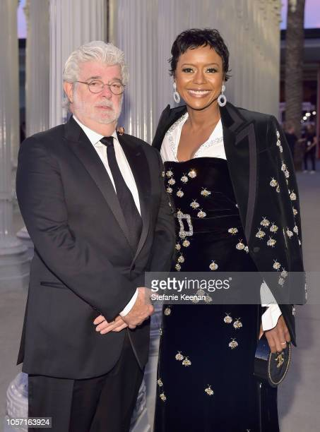 Directorproducer George Lucas and Ariel Investments President Mellody Hobson attend 2018 LACMA Art Film Gala honoring Catherine Opie and Guillermo...