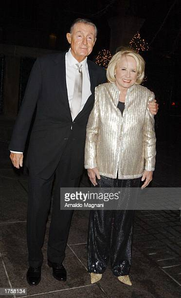 Director/Producer Joel Shoemaker and gossip columnist Liz Smith attend her 80th Birthday party at Le Cirque Restaurant February 2 2003 in New York...