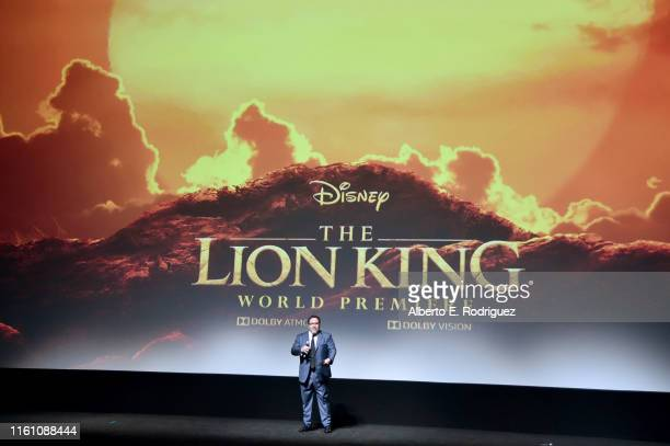 Director/producer Jon Favreau attends the World Premiere of Disney's THE LION KING at the Dolby Theatre on July 09 2019 in Hollywood California