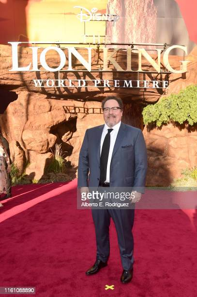 "Director/Producer Jon Favreau attends the World Premiere of Disney's ""THE LION KING"" at the Dolby Theatre on July 09, 2019 in Hollywood, California."