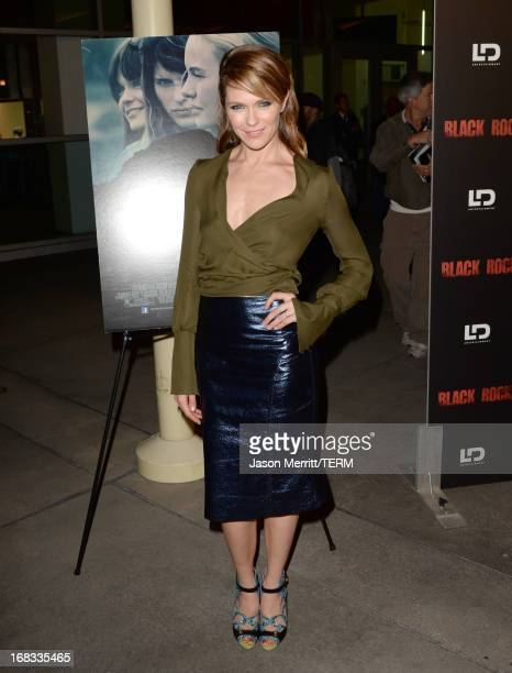 Director/producer Katie Aselton attends the screening of LD Entertainment's Black Rock at ArcLight Hollywood on May 8 2013 in Hollywood California