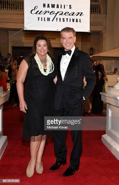 Director/producer Keely Shaye Brosnan and executive producer Pierce Brosnan arrive at the 8th Annual Hawaii European Cinema Film Festival Gala at...