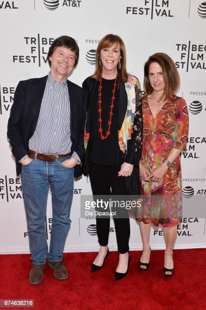 Director/producer Ken Burns Tribeca Film Festival cofounder Jane Rosenthal and director Lynn Novick attend 'The Vietnam War' premiere during the 2017...