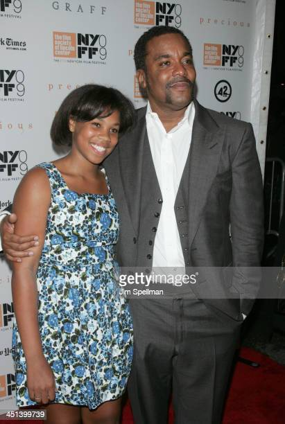 Director/producer Lee Daniels and his daughter Clara attend the 2009 New York Film Festival's screening of Precious at Alice Tully Hall on October 3...