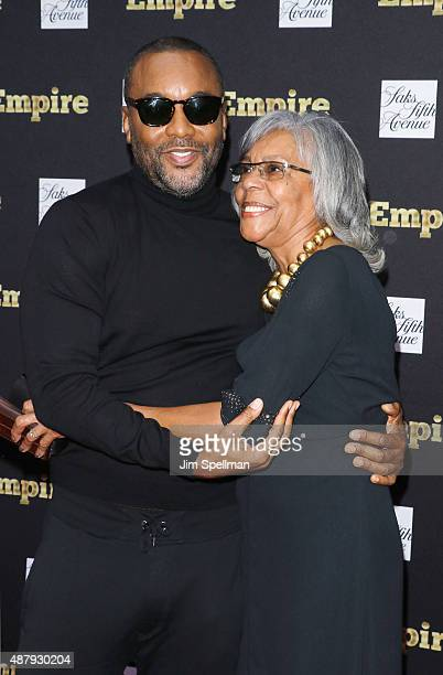 Director/producer Lee Daniels and mother Clara Watson attend the Empire curated collection unveiling at Saks Fifth Avenue on September 12 2015 in New...