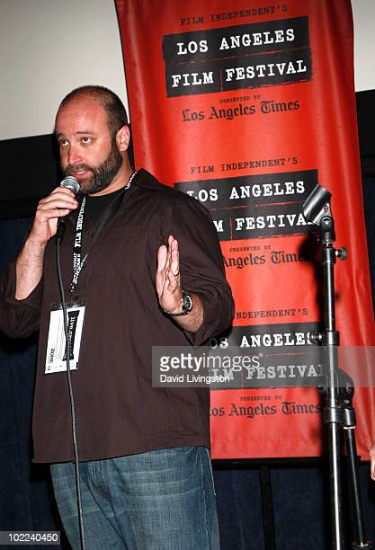 """Director/producer Lev Anderson speaks at the """"Everyday Sunshine"""" Q&A during the 2010 Los Angeles Film Festival at Regal Cinemas at LA Live Downtown..."""