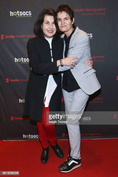 Director/producer Maya Gallus and Justine Pimlott attend the screening of 'The Heat A Kitchen evolution' at Hot Docs Ted Rogers Cinema on April 26...