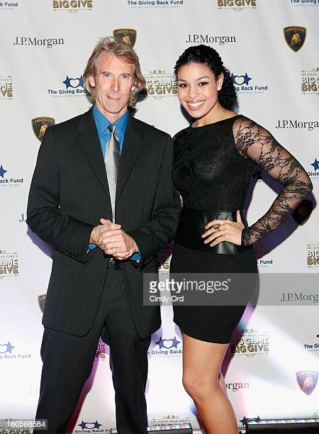 Director/producer Michael Bay and musician Jordin Sparks attend The Giving Back Fund's 4th Annual Big Game Big Give Super Bowl Celebration on...