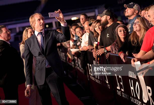 Director/producer Michael Bay attends the Dallas Premiere of the Paramount Pictures film '13 Hours: The Secret Soldiers of Benghazi' at the AT&T...
