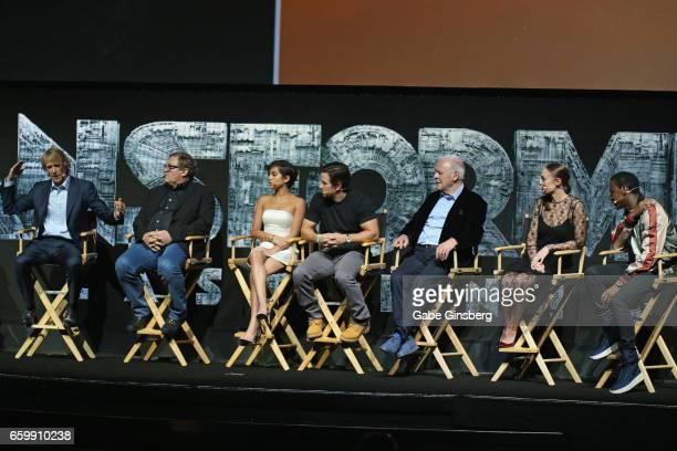 Director/producer Michael Bay producer Lorenzo di Bonaventura actors Isabella Moner Mark Wahlberg Sir Anthony Hopkins Laura Haddock and Jerrod...
