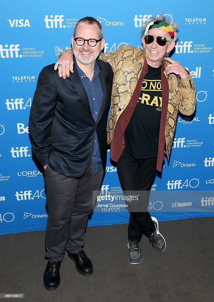 Director/Producer Morgan Neville (L) and musician Keith Richards attend the 'Keith Richards: Under The Influence' press conference at the 2015 Toronto International Film Festival at TIFF Bell Lightbox on September 17, 2015 in Toronto, Canada.