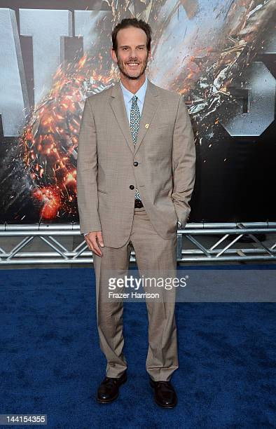 Director/producer Peter Berg arrives at the premiere of Universal Pictures' Battleship at Nokia Theatre LA Live on May 10 2012 in Los Angeles...