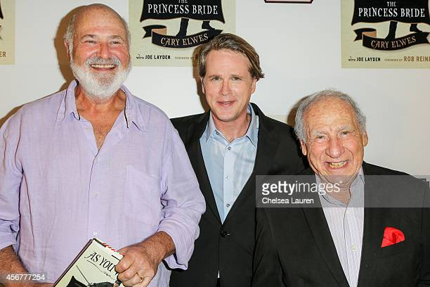 Director/producer Rob Reiner actor Cary Elwes and director/producer Mel Brooks attend the 'As You Wish' book launch party at Pearl's Liquor Bar on...
