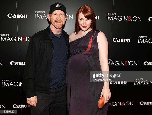 Director/producer Ron Howard and director/actress Bryce Dallas Howard attend the premiere of 'When You Find Me' inspired by Canon's 'Project...