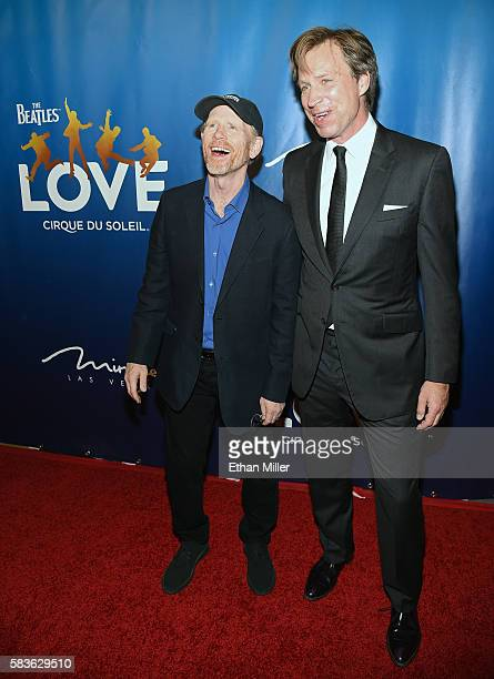 Director/producer Ron Howard and producer/musical director Giles Martin attend the 10th anniversary celebration of 'The Beatles LOVE by Cirque du...