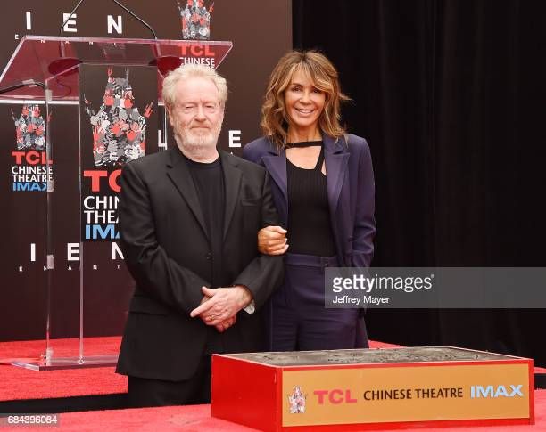 Director/producer Sir Ridley Scott and wife Giannina Facio attend the Sir Ridley Scott Hand and Footprint Ceremony at TCL Chinese Theatre IMAX on May...
