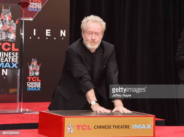 Director/producer Sir Ridley Scott attends the Sir Ridley Scott Hand and Footprint Ceremony at TCL Chinese Theatre IMAX on May 17 2017 in Hollywood...