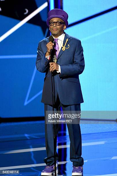 Director/producer Spike Lee speaks onstage during the 2016 BET Awards at the Microsoft Theater on June 26 2016 in Los Angeles California