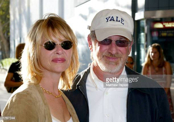 """Director/producer Steven Spielberg and his wife, actress Kate Capshaw, arrive at the New York premiere of """"The Chateau"""" at the Chelsea West Cinema..."""