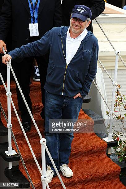 Director/Producer Steven Spielberg is seen during the 61st International Cannes Film Festival on May 16 2008 in Cannes France