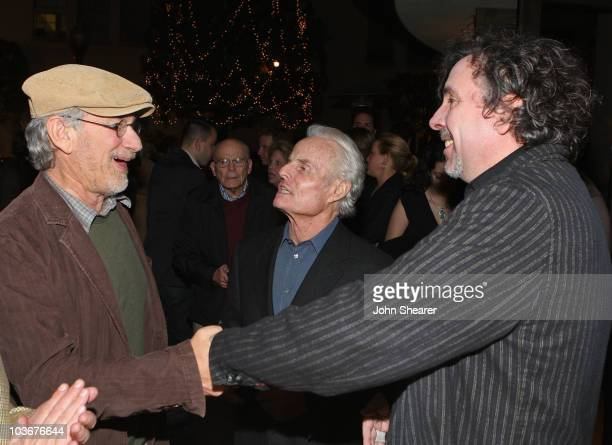 Director/producer Steven Spielberg, producer Richard D. Zanuck and director Tim Burton arrive at the special screening of DreamWorks Pictures'...