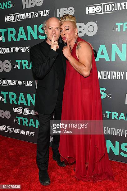 Director/producer Timothy GreenfieldSanders and subject of the documentary Bamby Salcedo attend HBO Documentary Film 'THE TRANS LIST' NY Premiere at...