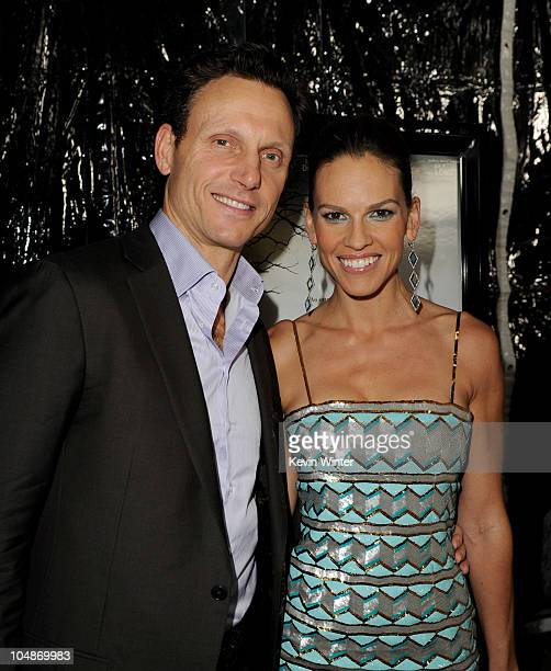 Director/producer Tony Goldwyn and actress/executive producer Hilary Swank arrive at the premiere of Fox Searchlight Pictures Conviction at the...
