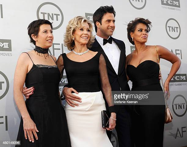 Director/producer Vanessa Vadim honoree Jane Fonda actor Troy Garity and Simone Garity attend the 2014 AFI Life Achievement Award A Tribute to Jane...