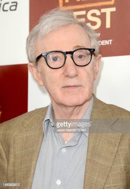 """Director/producer Woody Allen arrives at Film Independent's 2012 Los Angeles Film Festival Premiere of Sony Pictures Classics' """"To Rome With Love"""" at..."""