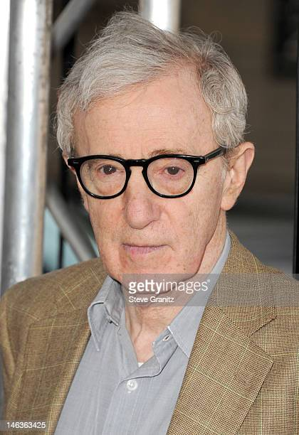 """Director/producer Woody Allen arrives at the 2012 Los Angeles Film Festival premiere sponsored by Virgin America of """"To Rome With Love"""" at Regal..."""