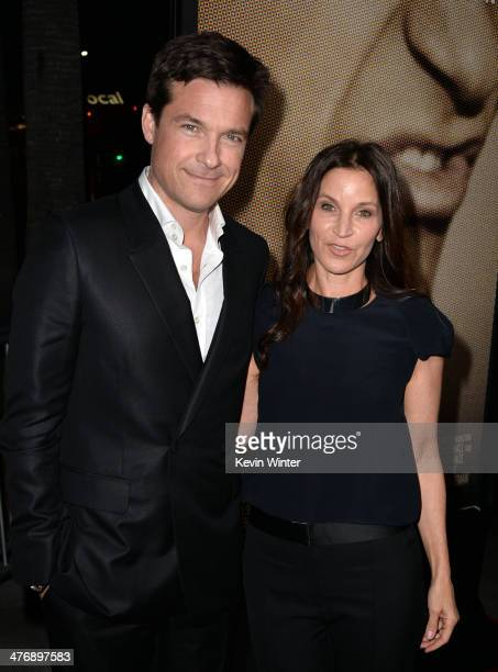 Director/producer/actor Jason Bateman and actress Amanda Anka arrive at the premiere of Focus Features' Bad Words at ArcLight Cinemas Cinerama Dome...