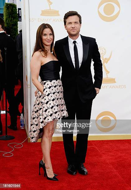 Director/producer/actor Jason Bateman and wife Amanda Anka arrive at the 65th Annual Primetime Emmy Awards held at Nokia Theatre LA Live on September...