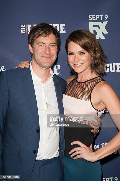 """Director/Producer/Actors Mark Duplass and wife Katie Aselton attend the premiere of FXX's """"The League"""" Final Season and """"You're The Worst"""" 2nd Season..."""