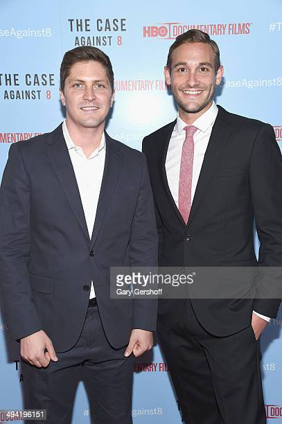 Director/producers Ben Cotner and Ryan White attend 'The Case Against 8' screening at Time Warner Screening Room on May 28 2014 in New York City