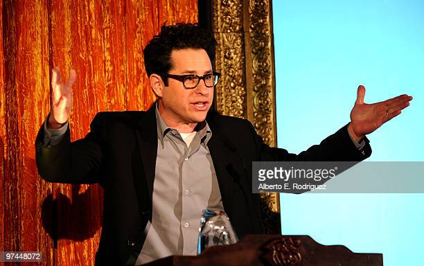 Director/producer/writer JJ Abrams accepts the Oscar Wilde honorary Irishman award onstage during the 5th Annual 'Oscar Wilde Honoring The Irish In...