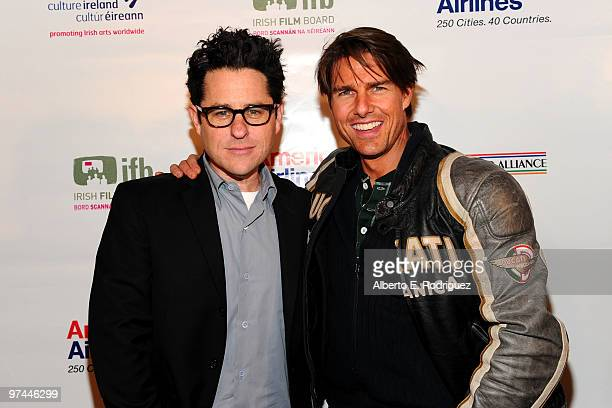 Director/producer/writer JJ Abrams and actor Tom Cruise pose during the 5th Annual 'Oscar Wilde Honoring The Irish In Film' held at the Wilshire...