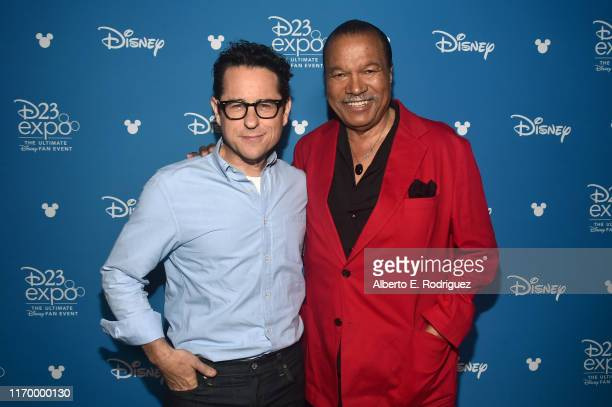 Director/producer/writer JJ Abrams and Billy Dee Williams of 'Star Wars The Rise of Skywalker' took part today in the Walt Disney Studios...