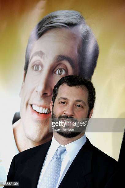 Director/producer/writer Judd Apatow arrives at the premiere of Universal Studios The 40 YearOld Virgin at Arclight Hollywood on August 11 2005 in...